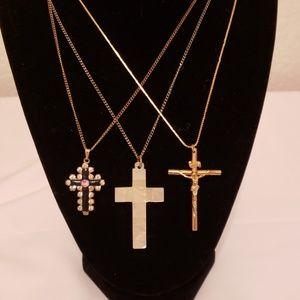 Jewelry - Lot of 3 crosses, religious, Jesus, Christian, God